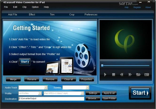 4Easysoft Video Converter for iPad Screenshot 3