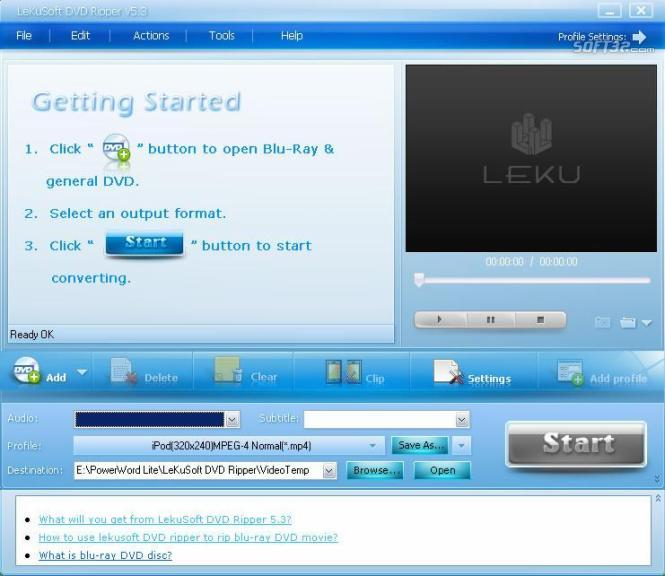 LeKuSoft Blu-ray Ripper Screenshot 2