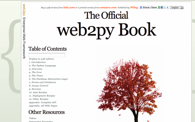 web2py Screenshot