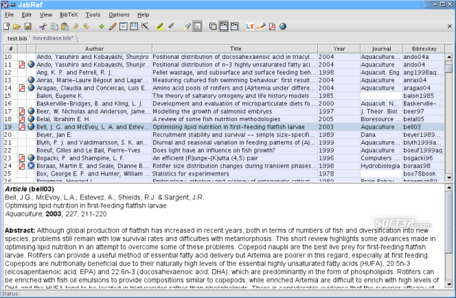 JabRef Screenshot 1