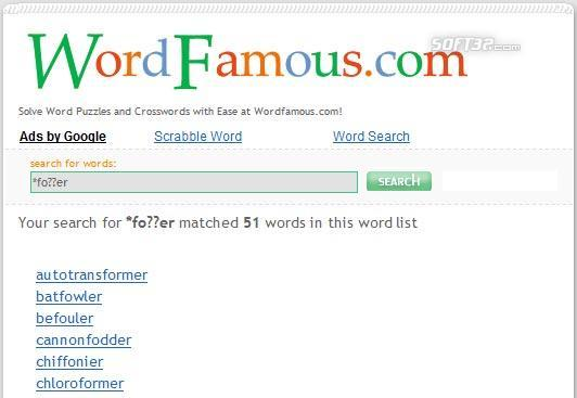 WordFamous.com Screenshot 3
