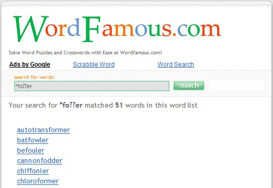 WordFamous.com Screenshot