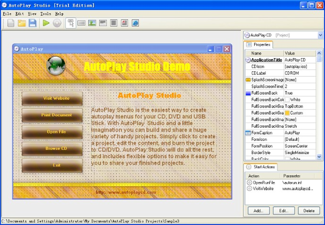 AutoPlay Studio Screenshot