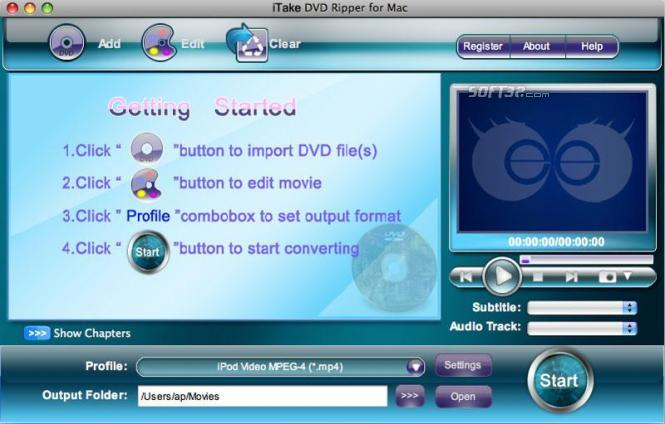 iTake DVD Ripper for Mac Screenshot 3