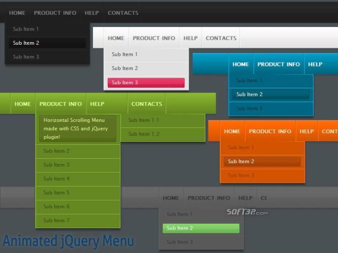 Animated jQuery Menu Style 08 Screenshot 3