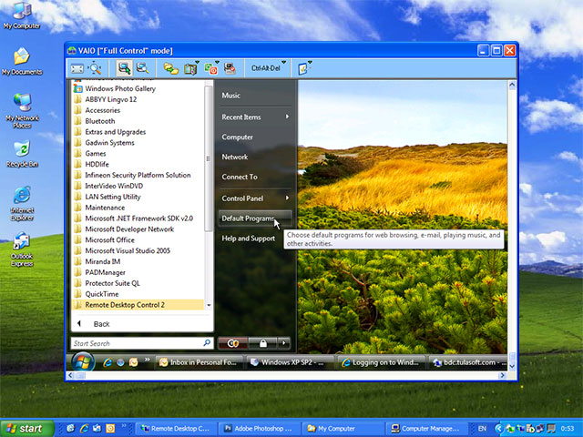 Remote Desktop Control Screenshot