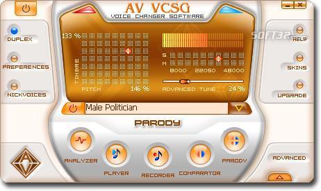 AV Voice Changer Software Gold Screenshot 3