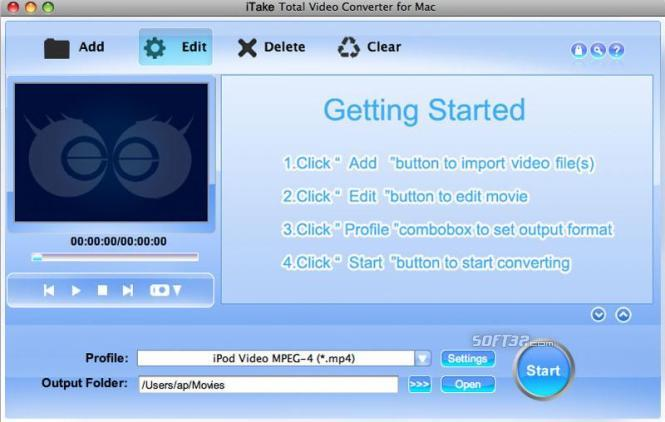 iTake Video Converter for Mac Screenshot 3