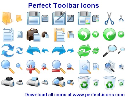Perfect Toolbar Icons Screenshot 1