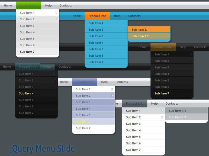jQuery Menu Slide Style 09 Screenshot