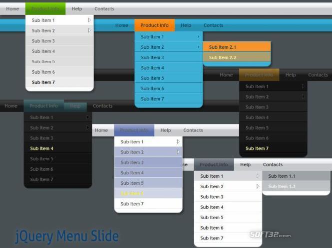 jQuery Menu Slide Style 09 Screenshot 3