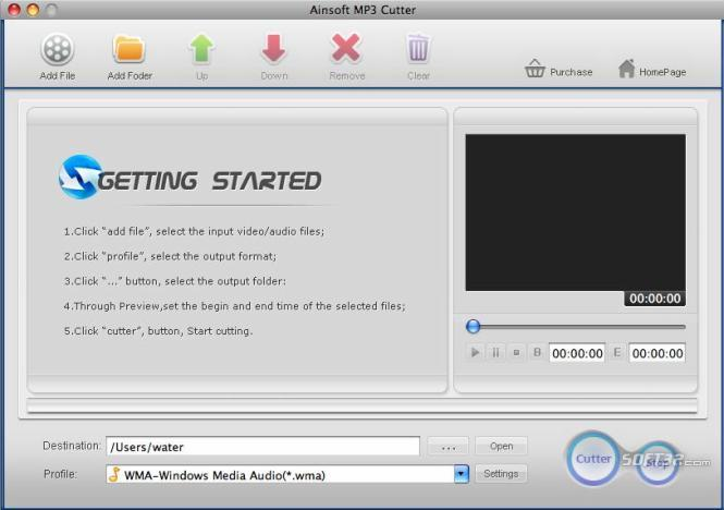 Ainsoft MP3 Cutter for Mac Screenshot 3