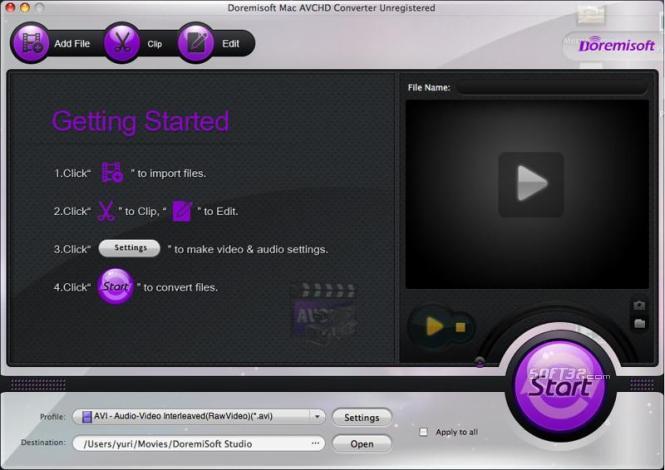 Doremisoft Mac AVCHD Converter Screenshot 3