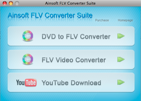 Ainsoft FLV Converter Suite for Mac Screenshot