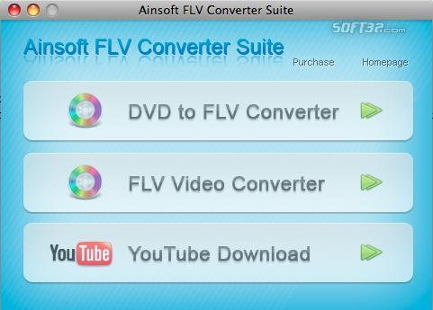 Ainsoft FLV Converter Suite for Mac Screenshot 3