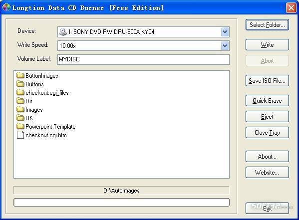 Longtion Data CD Burner Screenshot 3