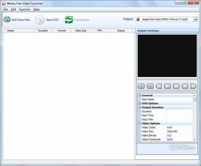 Weeny Free Video Converter Screenshot 3