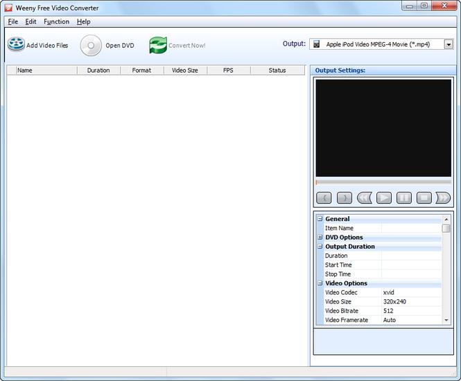 Weeny Free Video Converter Screenshot 1