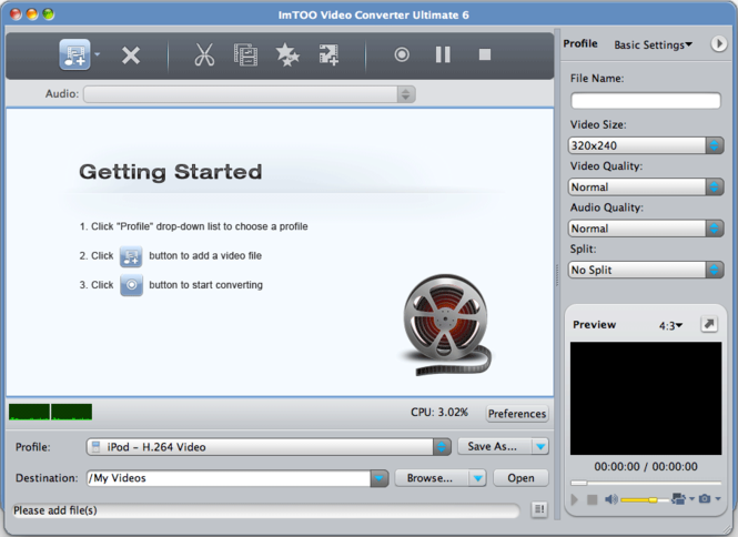 ImTOO Video Converter Ultimate 6 for Mac Screenshot