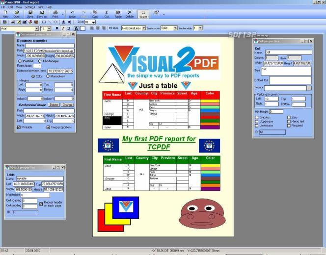 Visual2PDF Screenshot 3