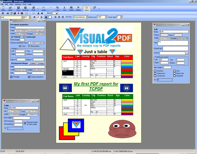 Visual2PDF Screenshot