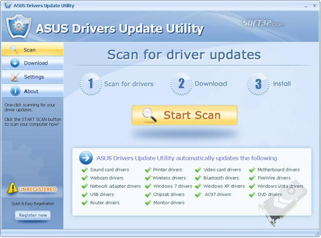 ASUS Drivers Update Utility Screenshot 3