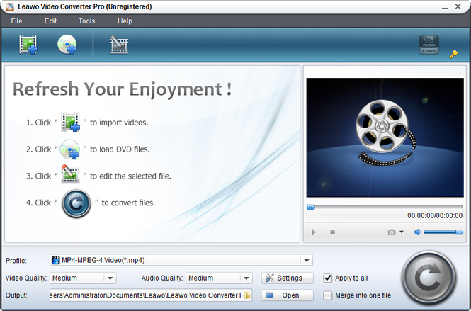 Leawo Easy Media Converter Suite Screenshot