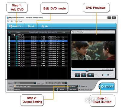 iSkysoft DVD to iPad Converter Screenshot 2