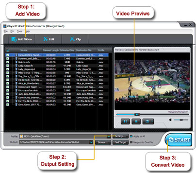 iSkysoft iPad Video Converter Screenshot