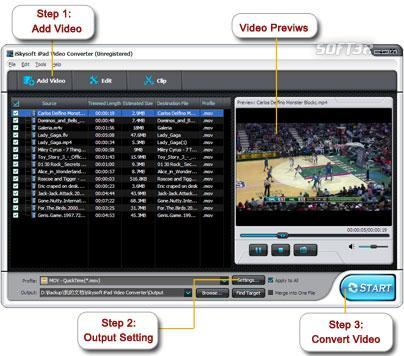 iSkysoft iPad Video Converter Screenshot 2