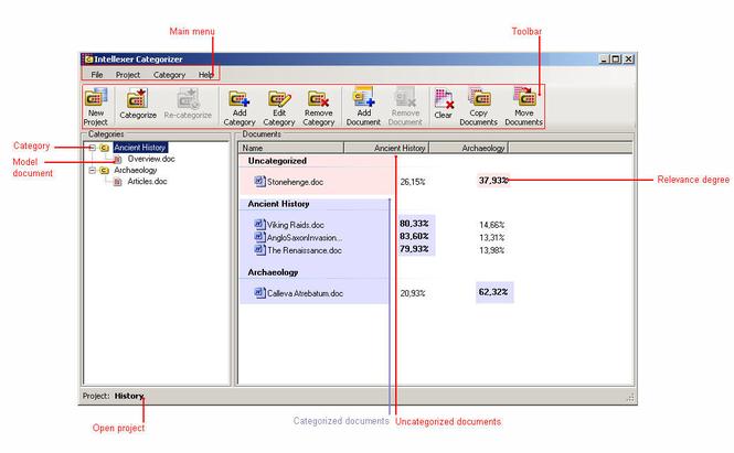 Intellexer Categorizer Screenshot