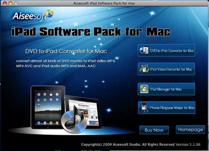 Aiseesoft iPad Software Pack for Mac Screenshot