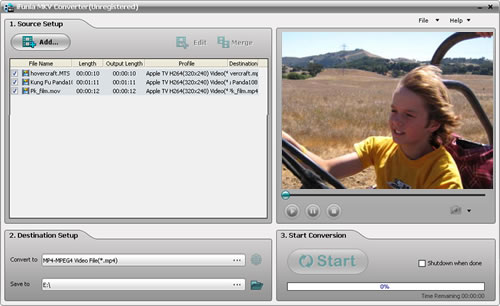 iFunia MKV Converter Screenshot