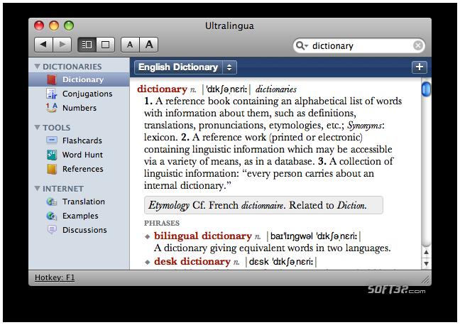 Esperanto-English Dictionary by Ultralingua for Mac Screenshot 2