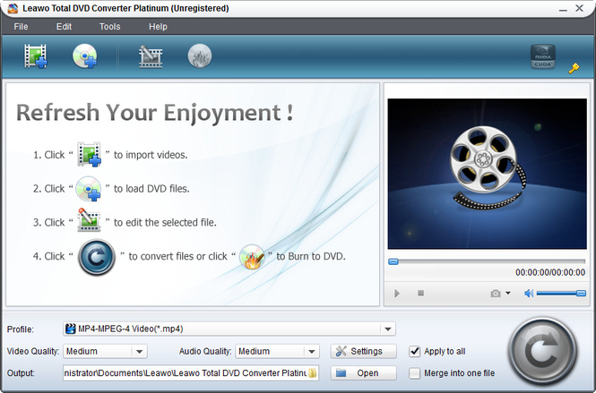 Leawo Total DVD Converter Suite Screenshot