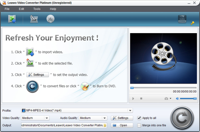 Leawo Easy Video Converter Suite Screenshot