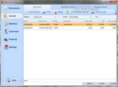 Faktum Invoicing Screenshot 2