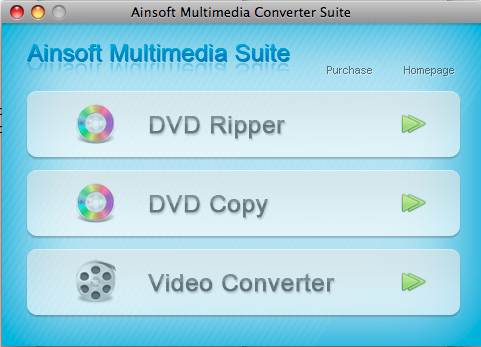 Ainsoft Multimedia Suite for Mac Screenshot