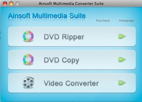 Ainsoft Multimedia Suite for Mac Screenshot 1