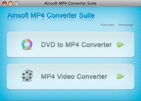 Ainsoft MP4 Converter Suite for Mac Screenshot
