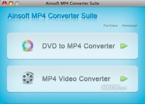 Ainsoft MP4 Converter Suite for Mac Screenshot 2