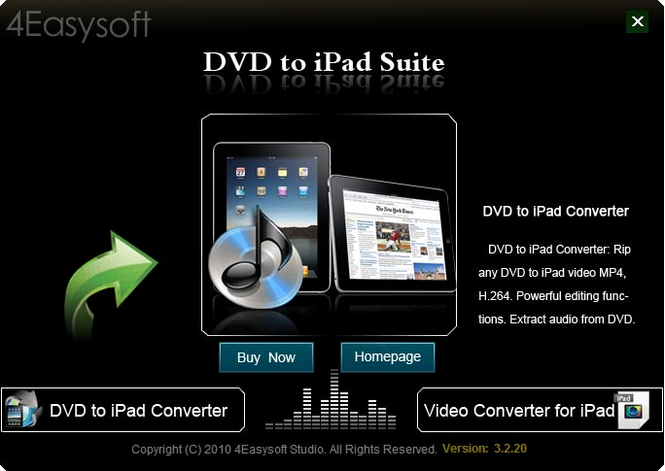 4Easysoft DVD to iPad Suite Screenshot