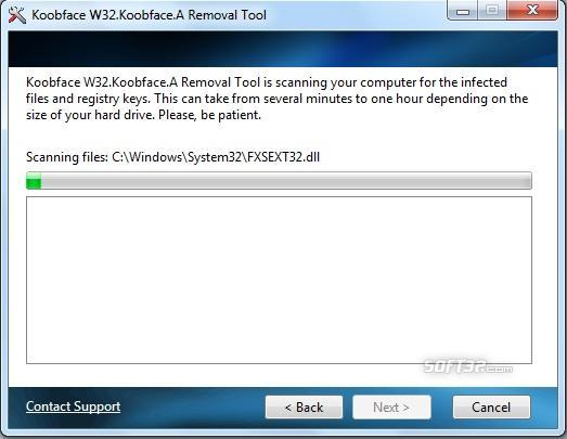 Koobface Removal Tool Screenshot 2