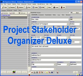 Project Stakeholder Organizer Deluxe Screenshot 1