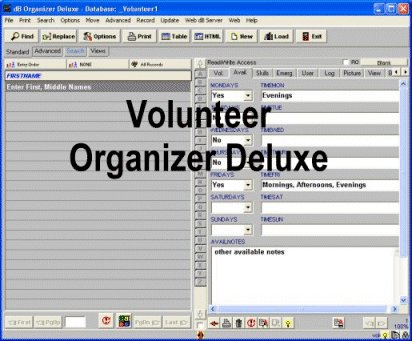Volunteer Organizer Deluxe Screenshot