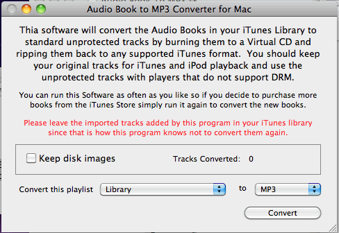 Mac Audio Book Converter Screenshot