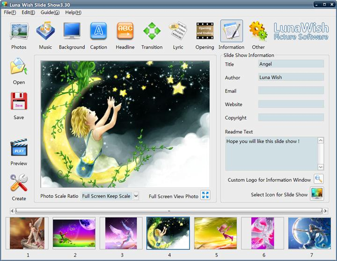 Luna Wish Slide Show Screenshot 1