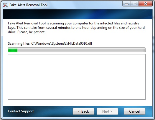 Fakealert Removal Tool Screenshot