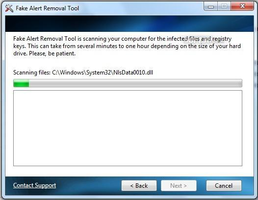 Fakealert Removal Tool Screenshot 2