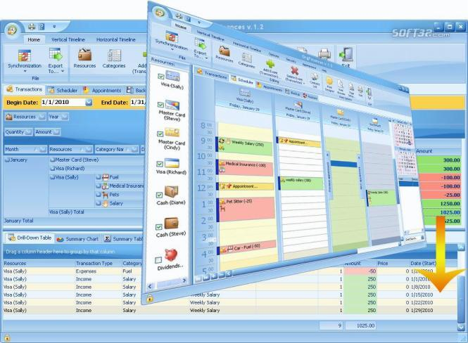 OrgFinances for Workgroup Screenshot 2